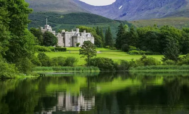 The Iverlochy Castle luxury hotel in Scotland near fort William