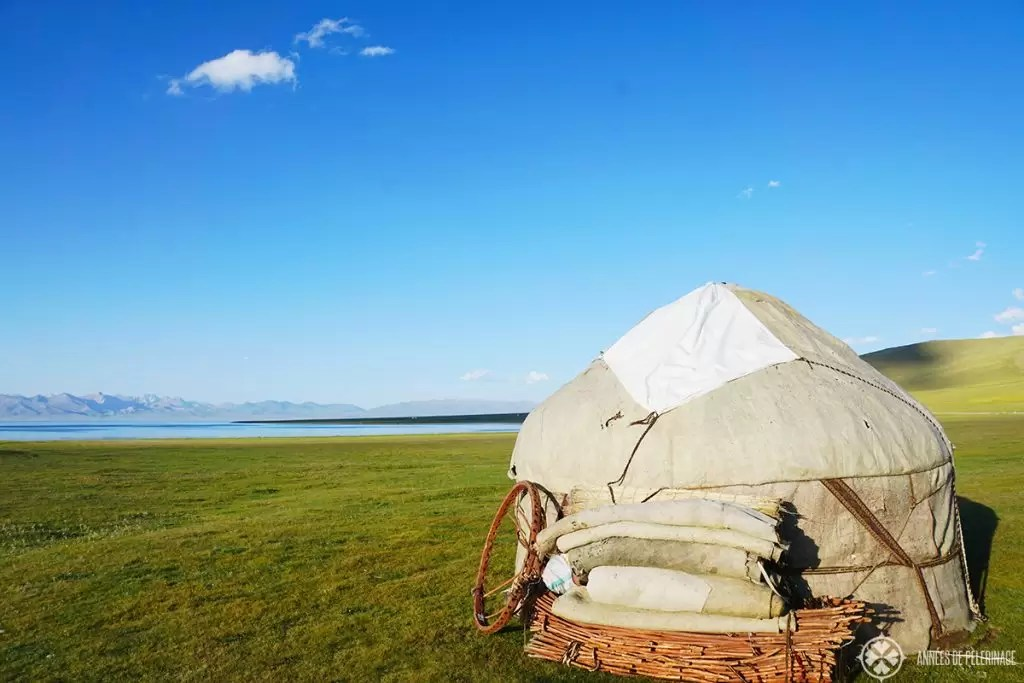 A traditional yurt close to Son-kul lake in Kyrgyzstan
