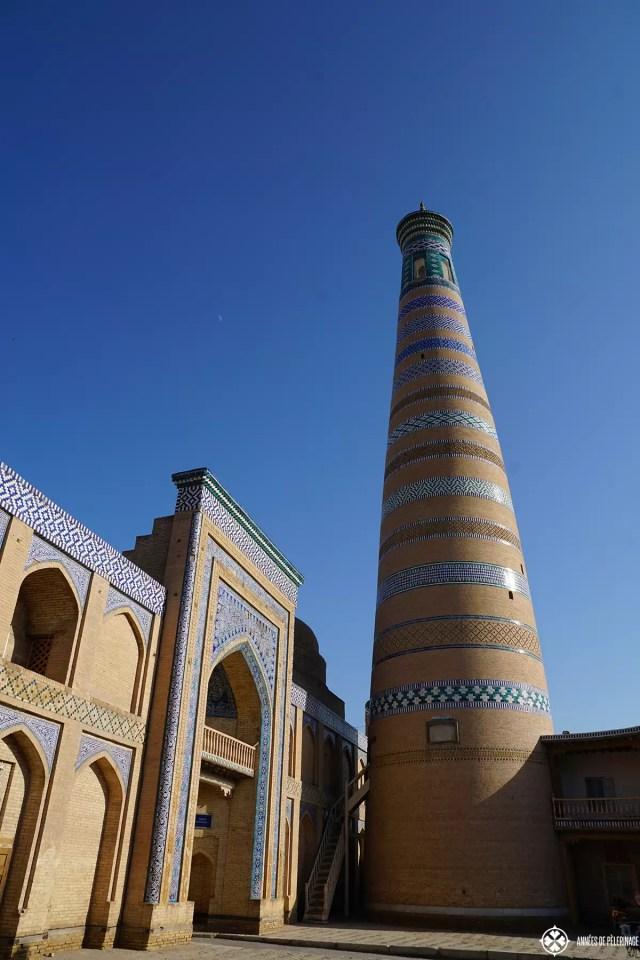 The Islam-Khodja complex and it's huge minaret in Khiva, Uzbekistan