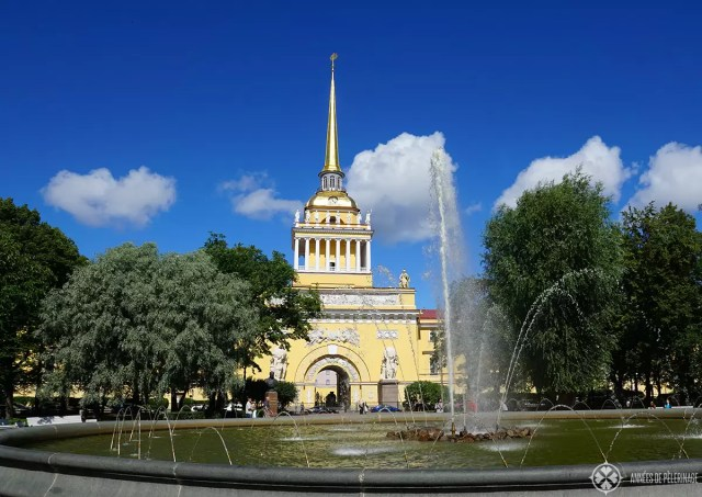 The Admiralty building in St. Petersburg, Russia