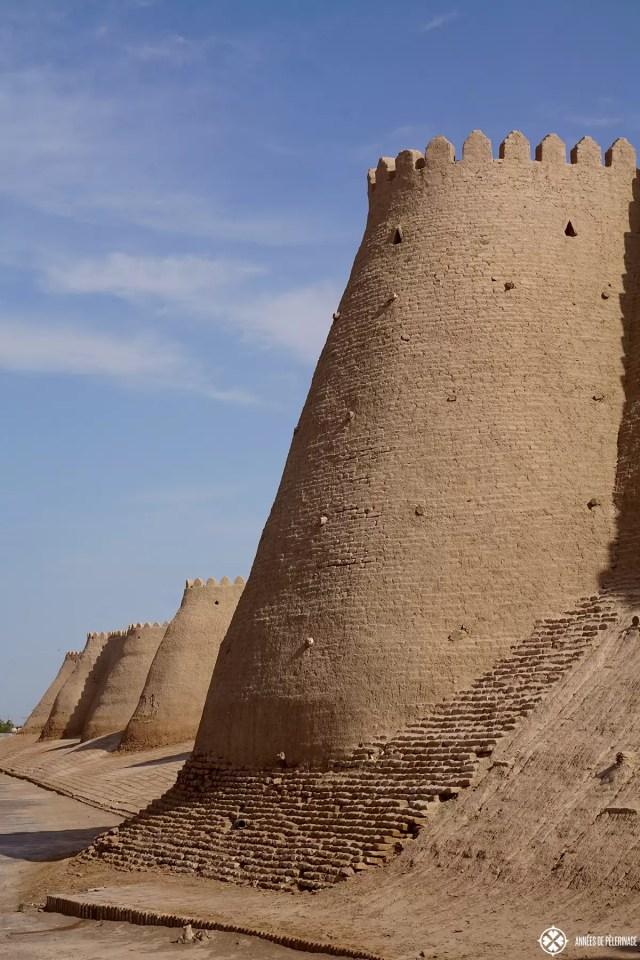 The city wall of Khiva, Uzbekistan