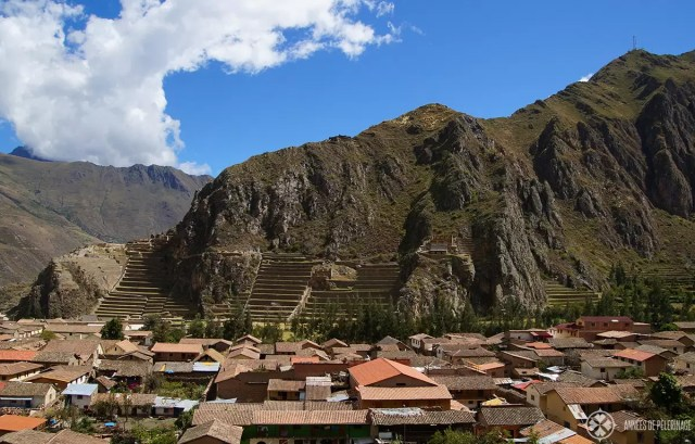 The ruins of Ollantaytambo - some say it looks a bit like a Lama