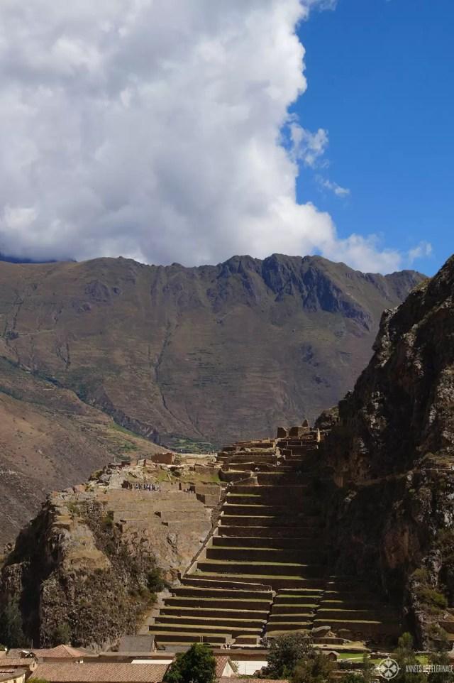 The main ruins of Ollantaytambo, Peru