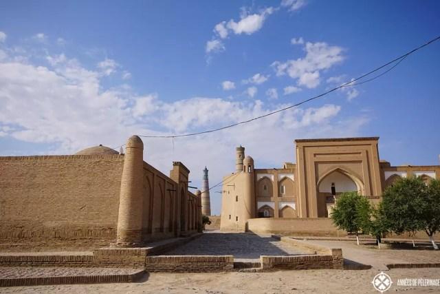 The streets in Khiva, Uzbekistan