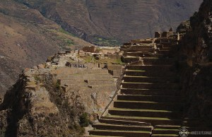 The ancient fortress ruin of Ollantaytambo in Peru