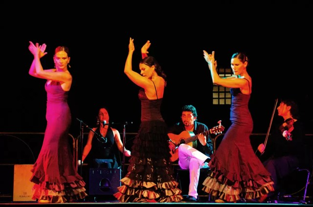 A typical flamenco Club in Madrid Spain