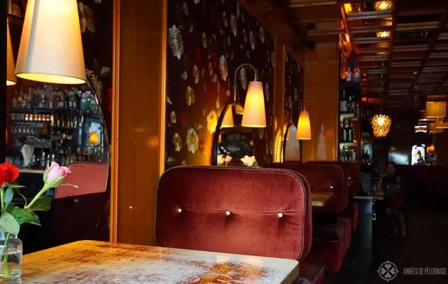 The bar of the Lux hotel near Marienplatz, Munich