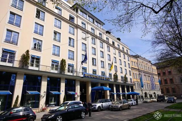 Hotel Bayerischer Hofe near Marienplatz, Munich