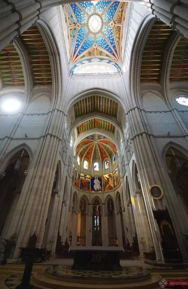 Inside the La Almudena Cathedral Madrid Spain