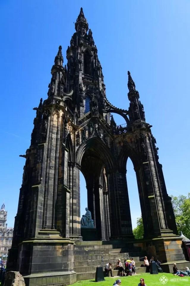 The Scott Monument in Edinburgh, Scotland