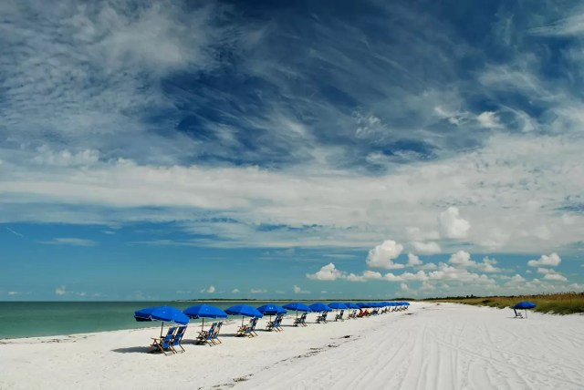 The pristine beach at the Caladesi Island State Park, Florida