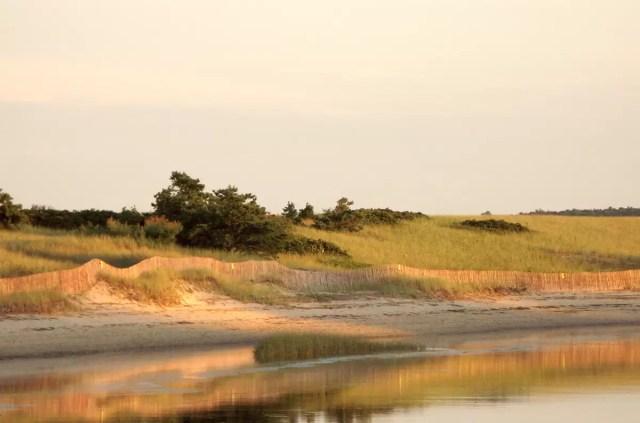 Dusk in the dunes at Qgunquit' Beach, Maine