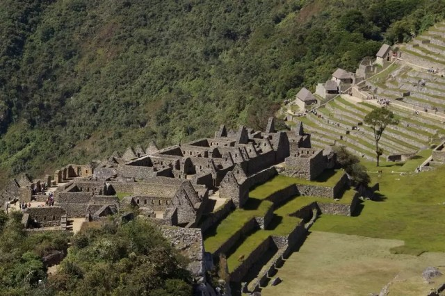 The architecture of the houses in the industrial sector in Machu Picchu