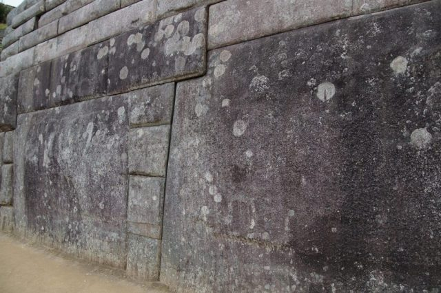 Perfect walls in Machu Picchu - big stones having multiple edges so typical of the Machu Picchu architecture