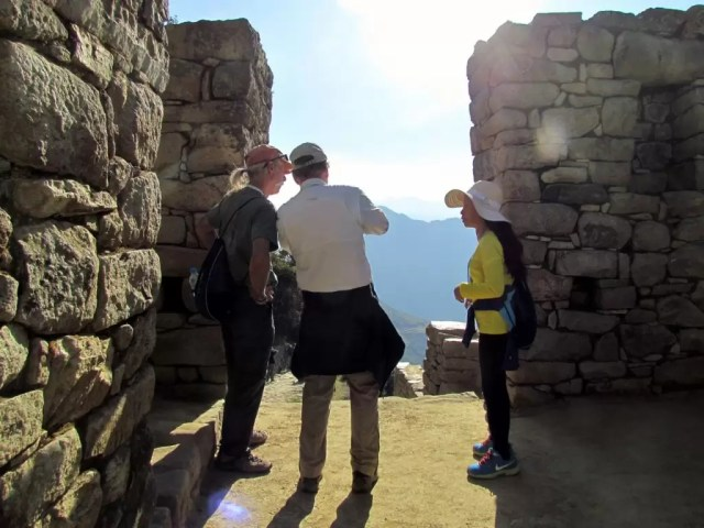 Sunrise at the sun gate (intipunku) in Machu Picchu, Peru - a perfect alternative to climbing Huayna Picchu