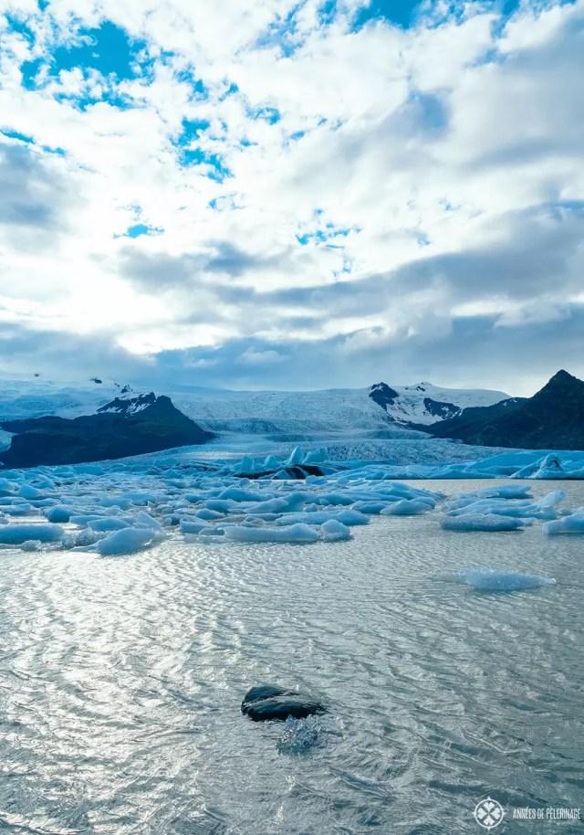 Icebergs floating in the Fjallsárlón Glacier Lagoon Iceland near Höfn