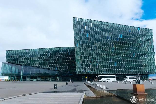 harpa concert hall near the harbor of reykjavik, Iceland