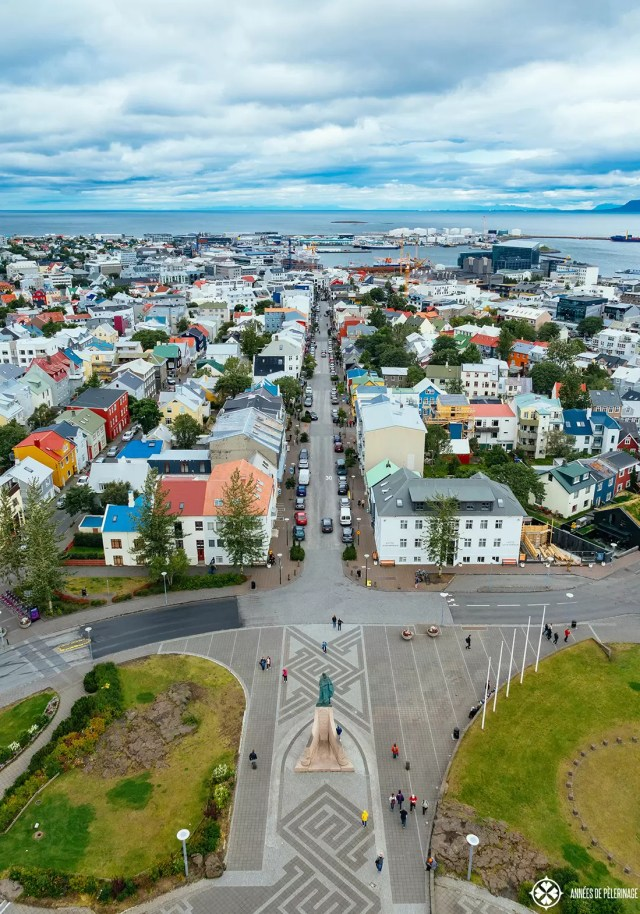 view of reykjavik city center