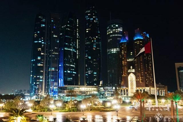 The Skyline of Abu Dhabi at night