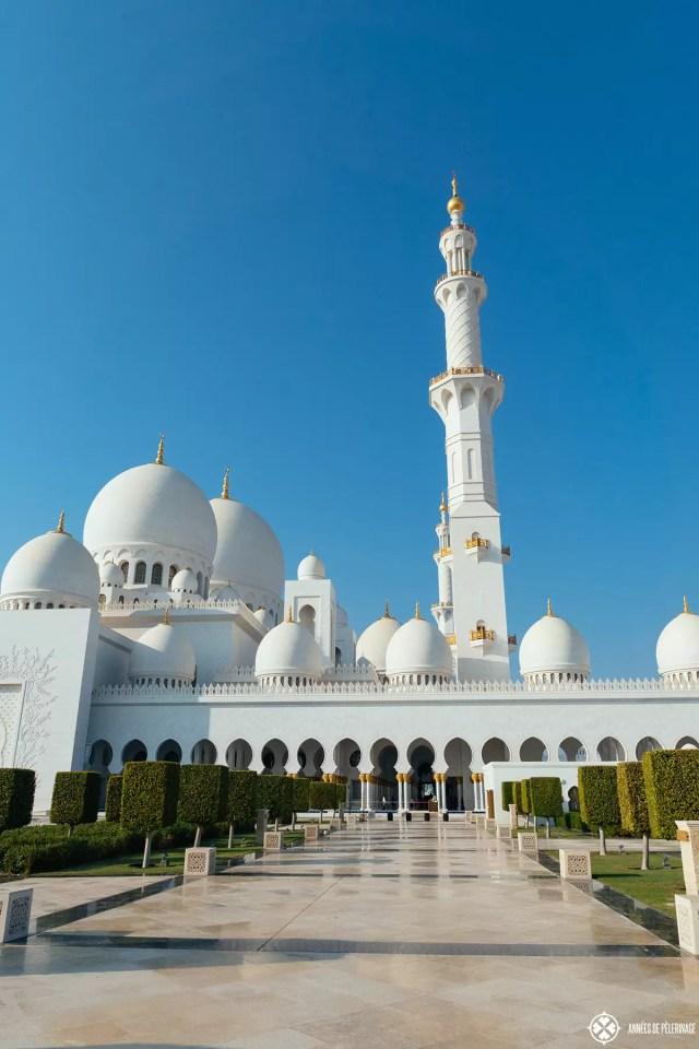 The Sheikh Zayed Grand Mosque in Abu Dhabi