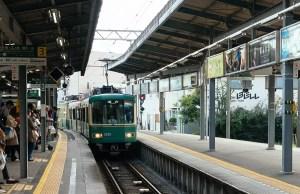 The enoshima Electric Railway line connecting Kamakura JR Station with Enoshima