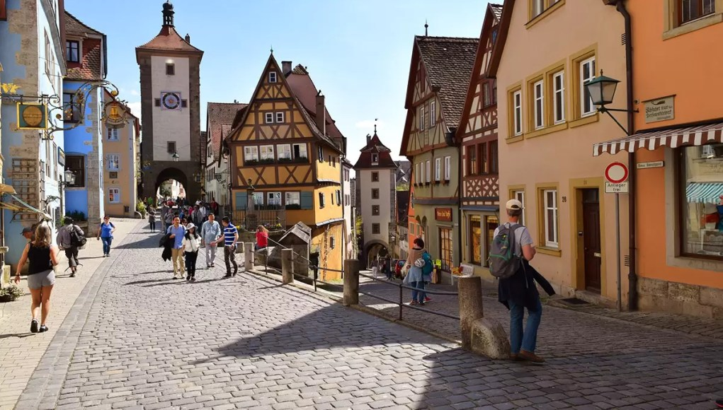 Medieval old town of Rothenburg ob der Tauber