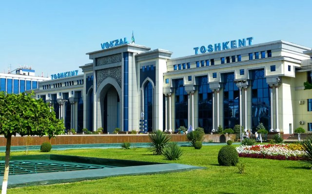New railway station in Tashkent, Uzbekistan