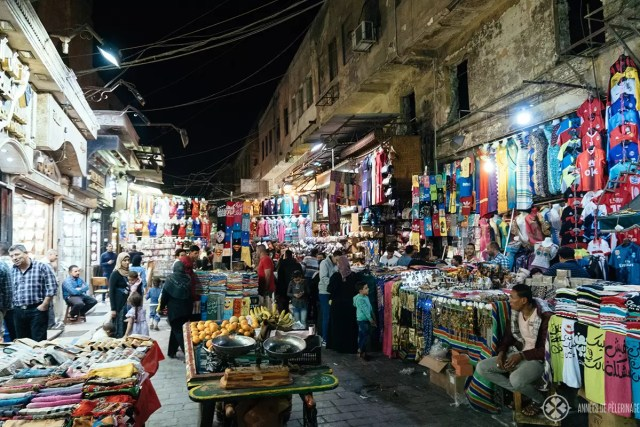 A typical bazaar in Cairo for the locals and one of the many fun things to do in Egypt