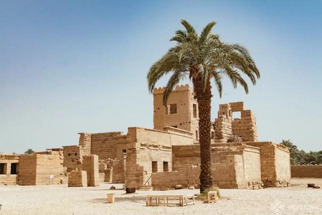 ruins of the karnak temple near luxor, egypt