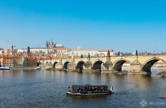 A river cruise on the Vltava in Prague