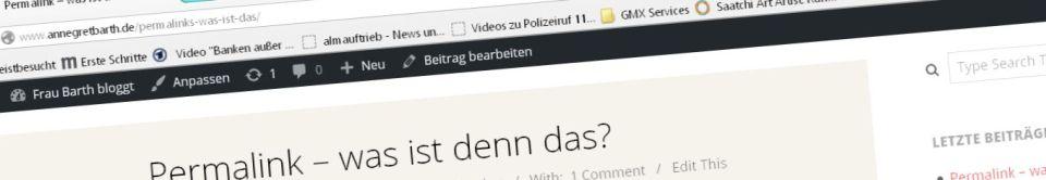 Permalinkanzeige im Browser