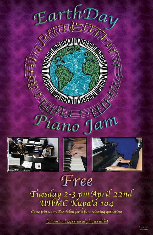 Earth Day Piano Jam at UH Maui College 2014
