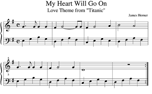 Theme From The Titanic For Easy Piano And Flute Concert Blog