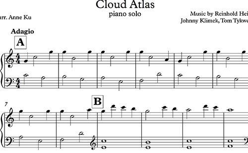 Cloud Atlas for Easy Piano arranged by Anne Ku