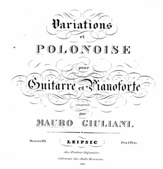Mauro Giuliani Polonoise or Polonaise from Op. 65