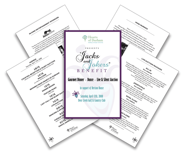 Fundraiser Event Program Template. sample event program
