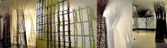 1999 Varjostuksia II – oksateoksia, Annantalon taidekeskus, Helsinki, yksityisnäyttely