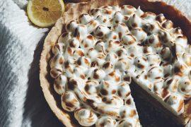 Glutenvrije citroen merengue taart
