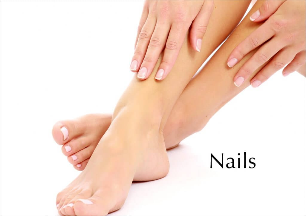 natural nails on fingers and toes
