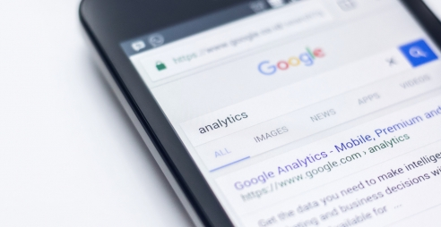 Screen showing Google search result page for search term