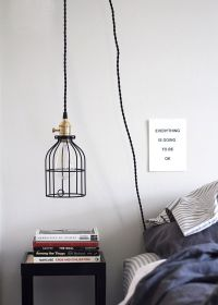 DIY Hanging Pendant Light from Color Cord Company - Anne Sage