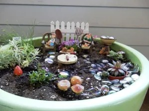 Jackson and Julianna Fairy Garden