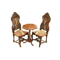 Baroque Chair and Chess Table Set