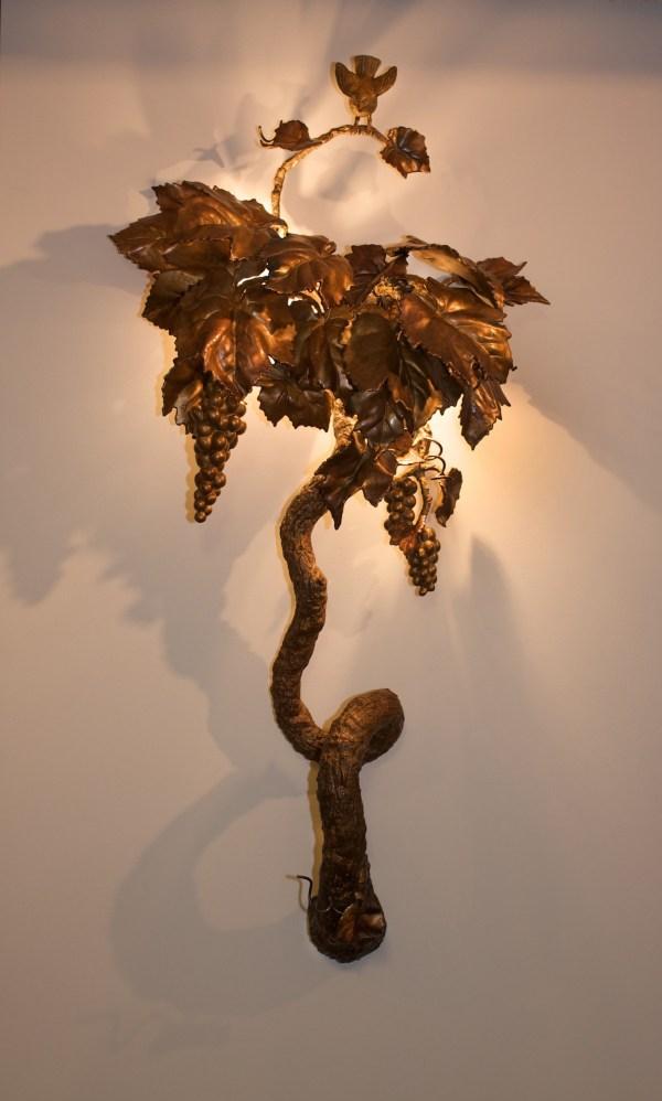 Bronze Grapevine Wall Sconce - Anne Thull Fine Art Design