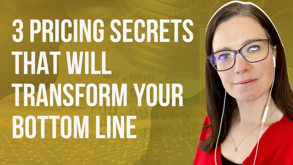 a blog featured image that talks about pricing secrets that will transform your business bottom line