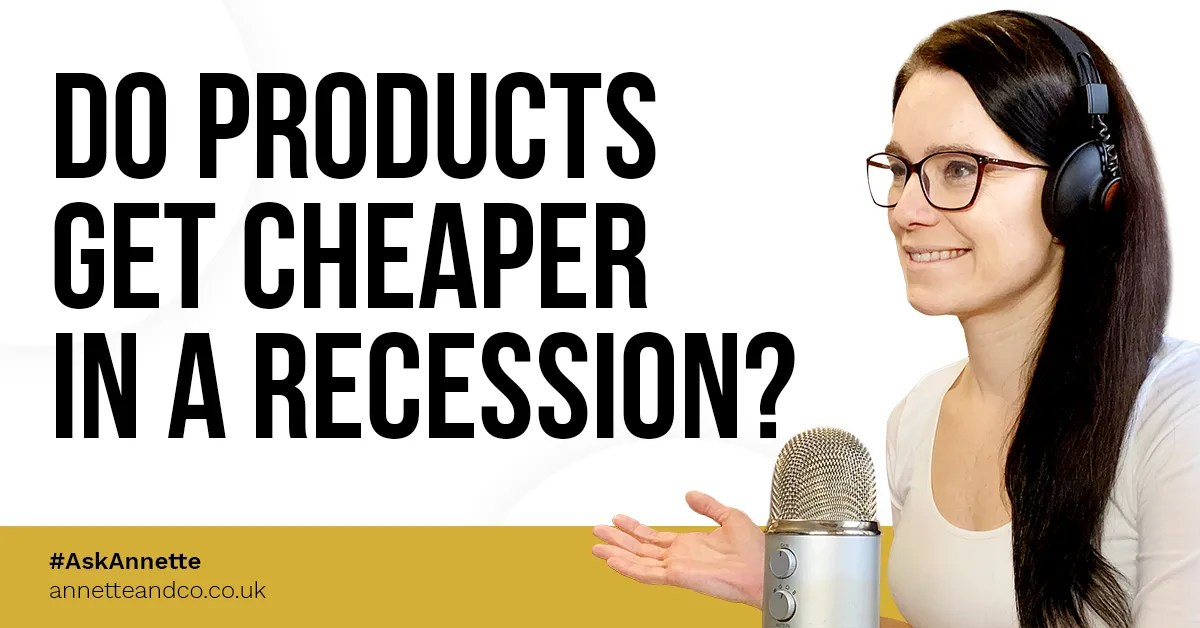 a blog featured image entitled Do Products Get Cheaper In A Recession
