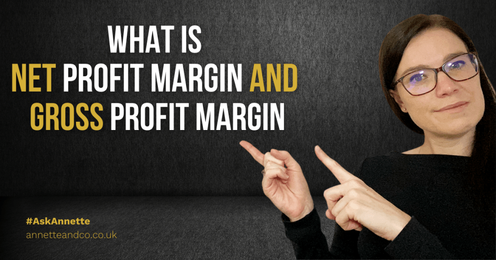 a blog featured image with a topic about What is net profit margin and gross profit margin