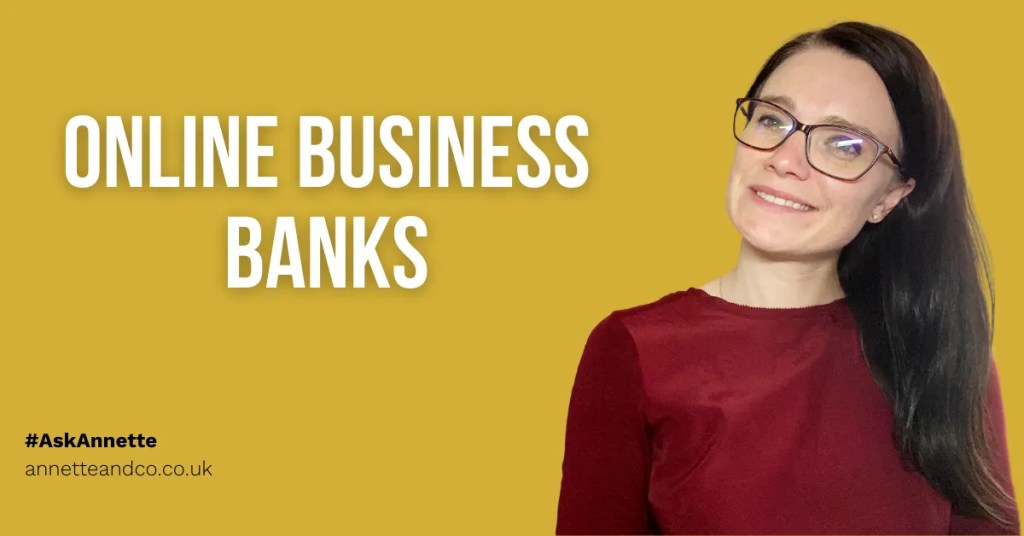 a blog featured image focusing on online business banks