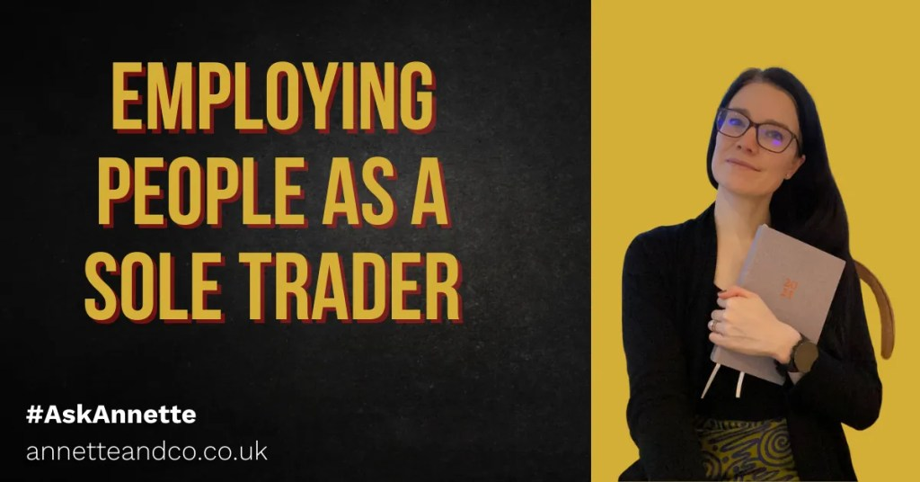 a blog featured image with a topic in relation to Employing People as a sole trader