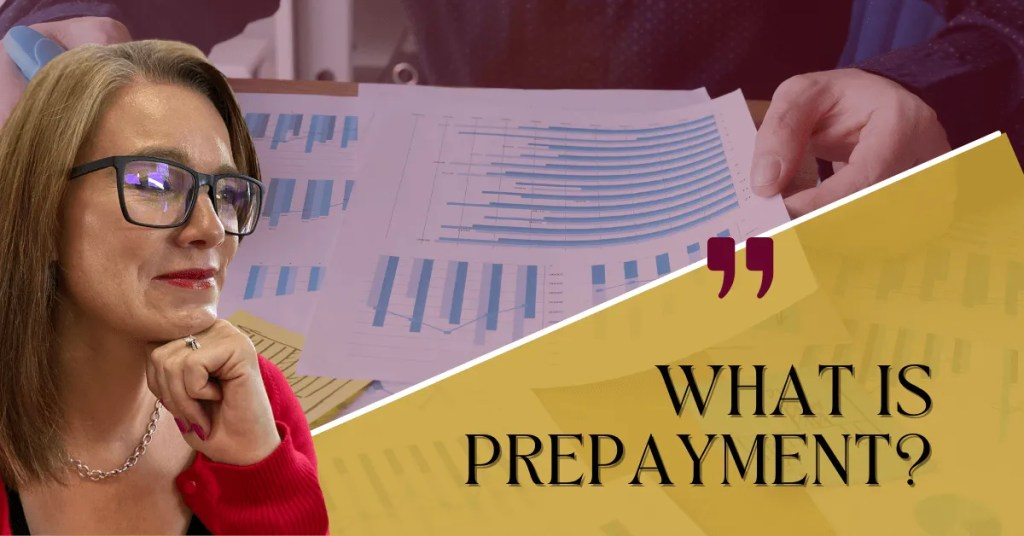 a blog featured image with a topic title about what is prepayments